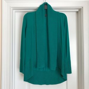 INC Teal Ribbed Cardigan: Size Small